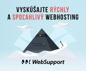 Vyskúšajte aj vy rýchly a spoľahlivý webhosting od WebSupportu.